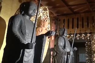 名古屋市熱田区・観聴寺 鉄造地蔵菩薩立像(2体)